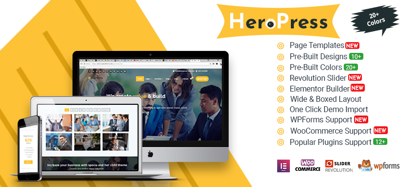 HeroPress WordPress Theme